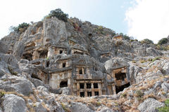 The ruins of the ancient Lycian city of Myra. The ruins of the ancient Lycian city of Myra Royalty Free Stock Images