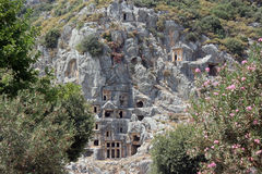 The ruins of the ancient Lycian city of Myra. The ruins of the ancient Lycian city of Myra Stock Photography