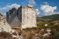 Ruins of the ancient Lycian city Patara Royalty Free Stock Photography