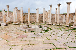 Ruins of ancient market house Jerash Royalty Free Stock Image
