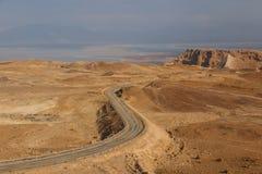 Ruins of the ancient Masada castle Royalty Free Stock Photos