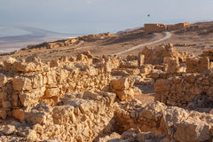 Ruins of the ancient Masada castle Stock Images