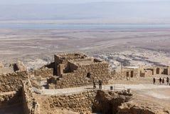 Ruins of ancient Masada fortress. Israel. Stock Photos