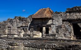 Ruins of Ancient maya cities stock image