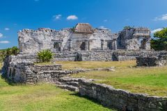 Ruins of the ancient Maya city Tulum, Mexi. Co stock photography