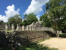 The Ruins of Ancient Mayan Buildings:  Chichenitza Royalty Free Stock Photography