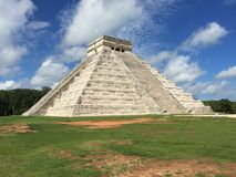 The Ruins of Ancient Mayan Buildings:  Chichenitza. Considered one of the seven wonders of the modern world.  The ancient mayan ruins  of Chichenitza are Royalty Free Stock Photos