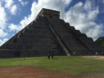 The Ruins of Ancient Mayan Buildings:  Chichenitza. Considered one of the seven wonders of the modern world.  The ancient mayan ruins  of Chichenitza are Stock Photography