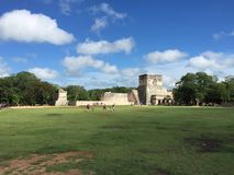The Ruins of Ancient Mayan Buildings:  Chichenitza Royalty Free Stock Photos