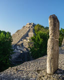 Ruins of the ancient Mayan city of Becan, Mexico stock photos