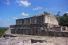 Ruins of the ancient Mayan city of Calakmul stock photography
