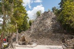 Ruins of the ancient Mayan city of Coba Stock Images