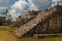 Ruins of the ancient Mayan city of Ek Balam, Mexico Royalty Free Stock Images