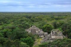 Ruins of ancient Mayan city Ek Balam, Yucatan, Mexico royalty free stock photo