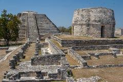 Ruins of the ancient Mayan city of Mayapan Royalty Free Stock Image