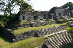 Ruins of the ancient Mayan city Palenque, Mexico royalty free stock photos