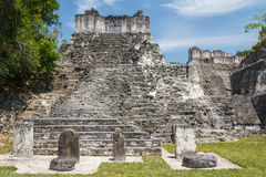 Ruins of the ancient Mayan city of Tikal Stock Photography