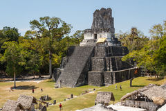 Ruins of the ancient Mayan city of Tikal Stock Photos