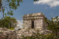 Ruins of the ancient Mayan city of Tulum Stock Photography