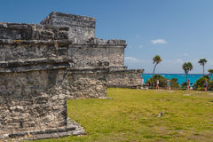 Ruins of the ancient Mayan city of Tulum Royalty Free Stock Photo