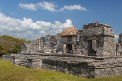 Ruins of the ancient Mayan city of Tulum Royalty Free Stock Photography