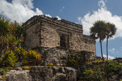 Ruins of the ancient Mayan city of Tulum Stock Photo