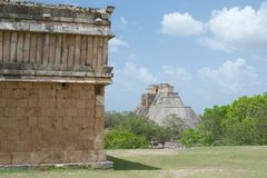 Uxmal City Ruins in Yucatan, Mexico royalty free stock photography
