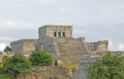 Ruins from ancient mayan civilization in Mexico Stock Photography