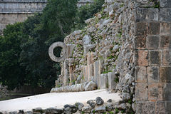 Ruins in ancient Mayan site Uxmal, Mexico. royalty free stock photography