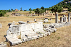 The ruins in ancient Messene (Messinia) Stock Image