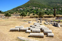 The ruins in ancient Messene (Messinia) Stock Photos
