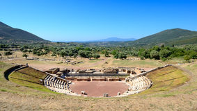 The ruins in ancient Messene (Messinia) Royalty Free Stock Photo