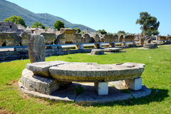 The ruins in ancient Messene (Messinia) Stock Photo