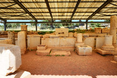 The ruins in ancient Messene (Messinia) Stock Photography