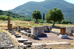 The ruins in ancient Messene (Messinia) Royalty Free Stock Photos