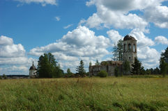Ruins of ancient monastery Royalty Free Stock Image