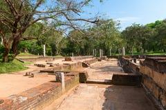 Ruins of a ancient monastery, Anuradhapura, Sri Lanka Royalty Free Stock Photography