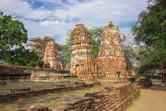 The ruins of the ancient monastery. Thailand Royalty Free Stock Photo