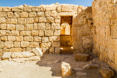 Ruins of the ancient Nabataean Town Shivta Stock Photos