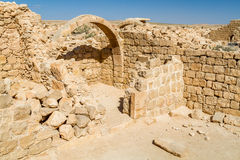 Ruins of the ancient Nabataean Town Shivta Royalty Free Stock Image