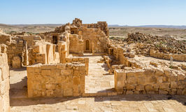 Ruins of the ancient Nabataean Town Shivta Stock Image