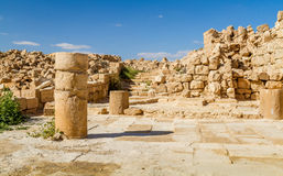 Ruins of the ancient Nabataean Town Shivta Royalty Free Stock Photos