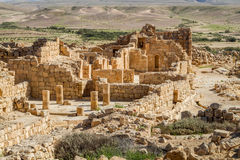 Ruins of the ancient Nabataean Town Shivta Royalty Free Stock Photography