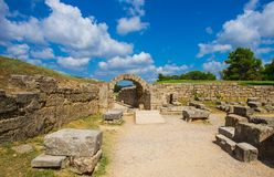 Ruins in Ancient Olympia, Elis, Greece Stock Photo