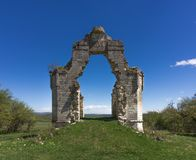 Ruins of an ancient Orthodox chapel Royalty Free Stock Image