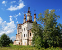 Ruins of ancient Orthodox Church in Varnitsy (Totma), North Russ Royalty Free Stock Photography