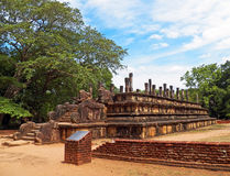 Ruins of Ancient Palace Temple at Anuradhapura, Sri Lanka Royalty Free Stock Photo