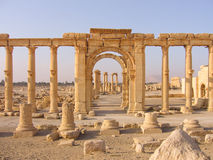 Ruins in ancient Palmyra, Syria Stock Images