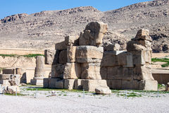 Ruins of ancient Persepolis Stock Images