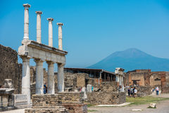 Ruins of ancient Pompeii, Italy Stock Images